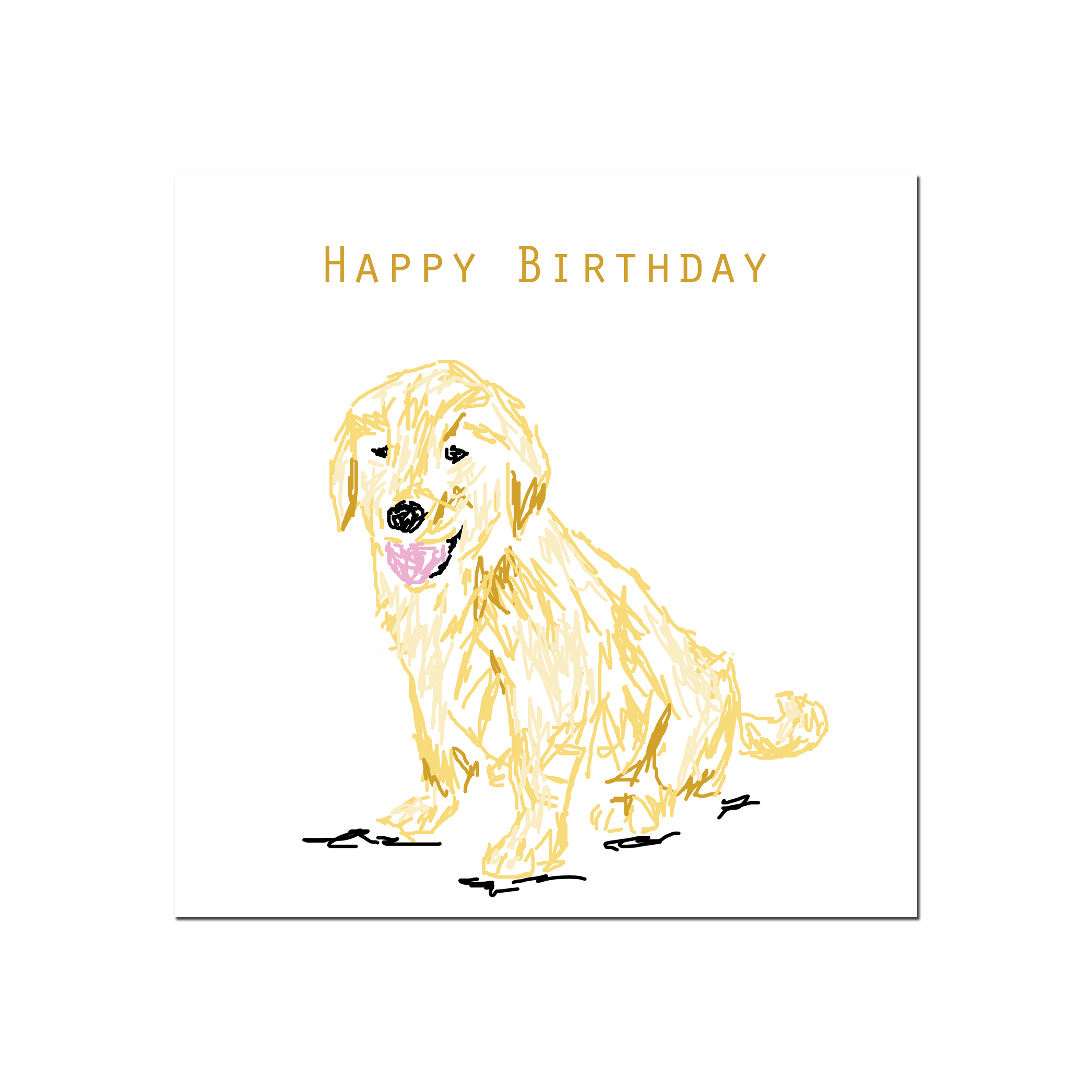 Golden retriever card design simon andrew designs dog happy birthday m4hsunfo