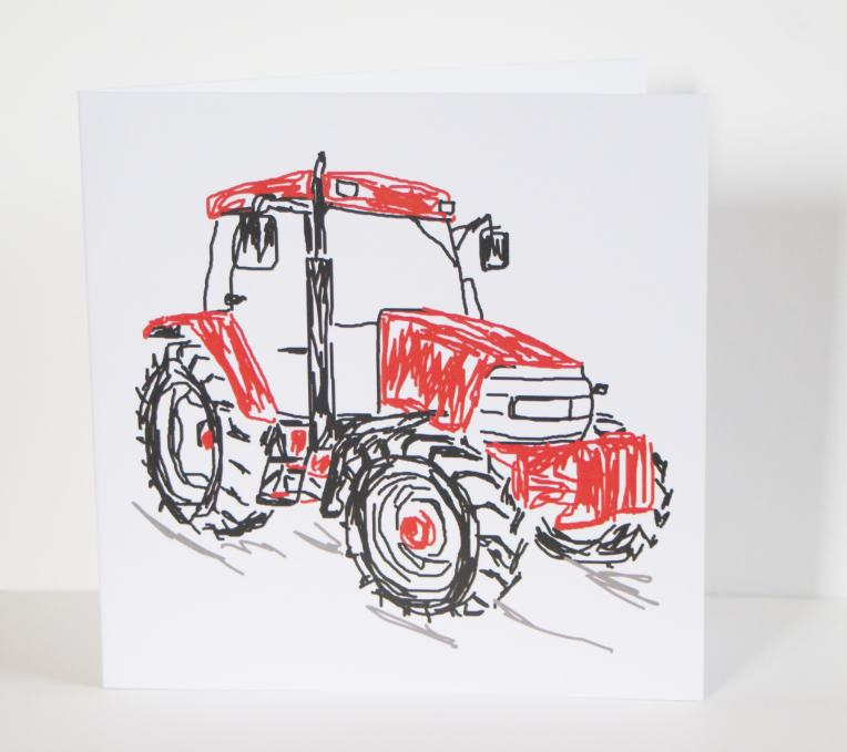 200mm greetings card