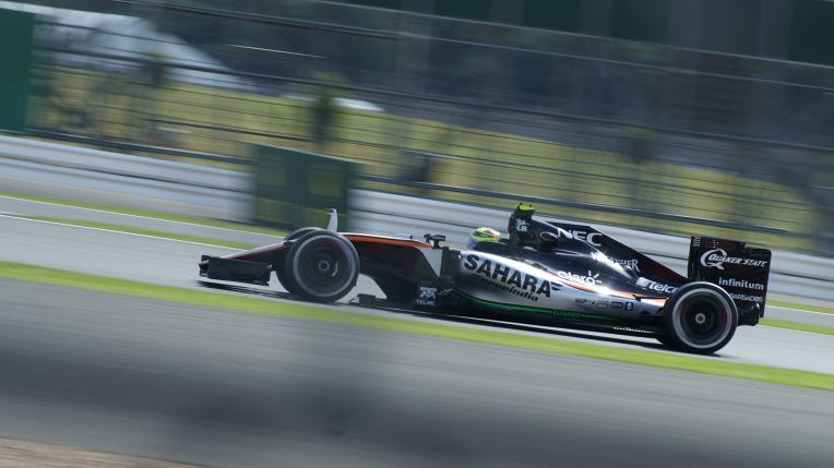 Perez during F1 practice