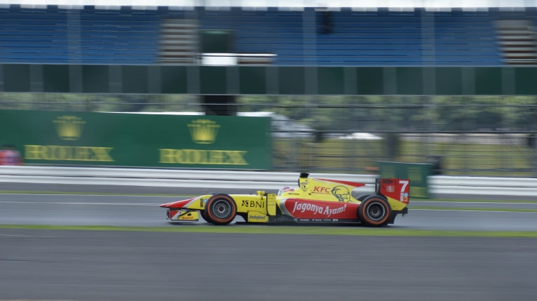 Mitch Evans during GP2 practice