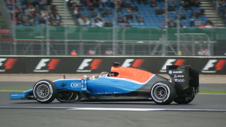 Wehrlein during F1 practice