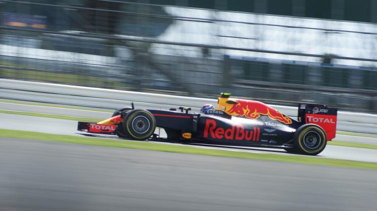 Verstappen during F1 practice